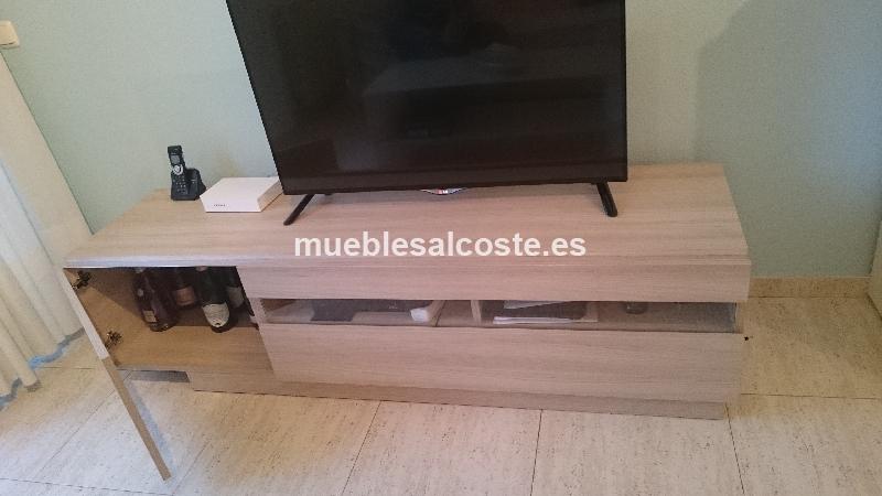 Mueble Tv Estilo Moderno Acabado Chapa Natural Cod 15351