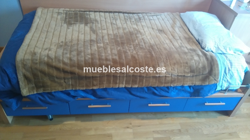 Mueble cama ni o con cajones cod 15418 segunda mano for Muebles ninos segunda mano