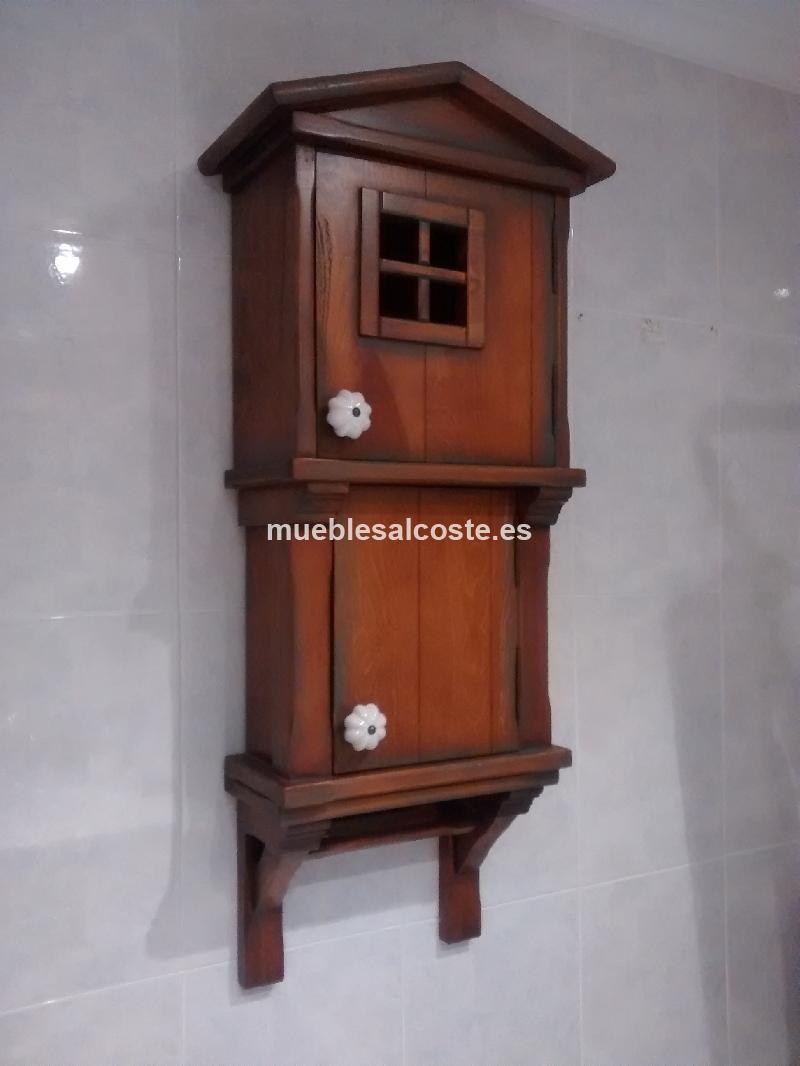 Armario bano estilo colonial acabado madera cod 15476 - Muebles segunda mano bizkaia ...