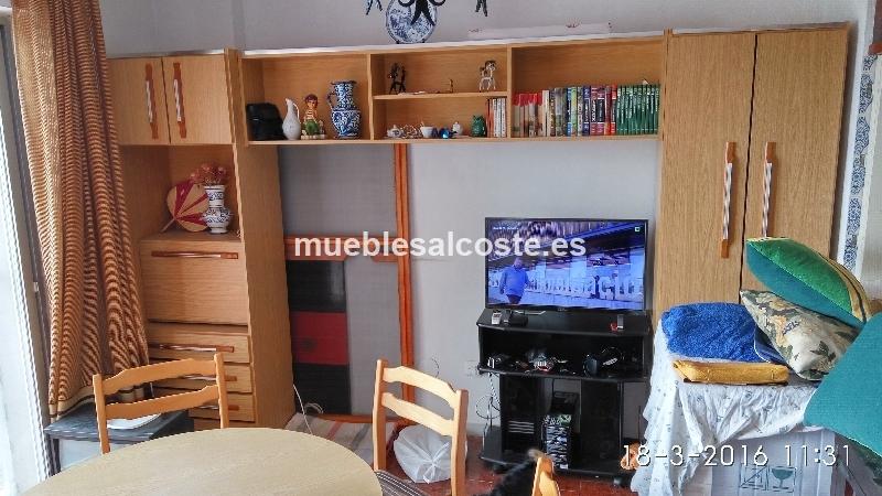 Mueble salon estilo madera acabado melamina cod 15613 segunda mano - Muebles salon granada ...