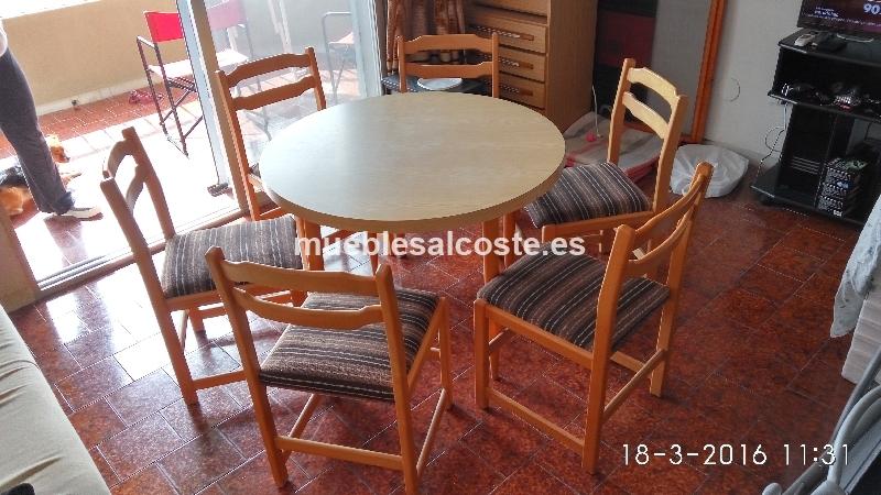 Mesa de comedor con seis sillas cod 15614 segunda mano for Comedor seis sillas