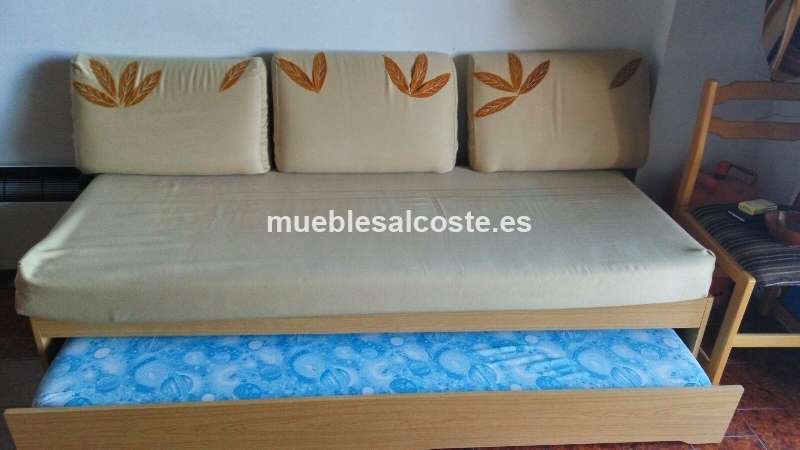 Sof cama tres plazas cod 15618 segunda mano - Sofa cama segunda mano sevilla ...