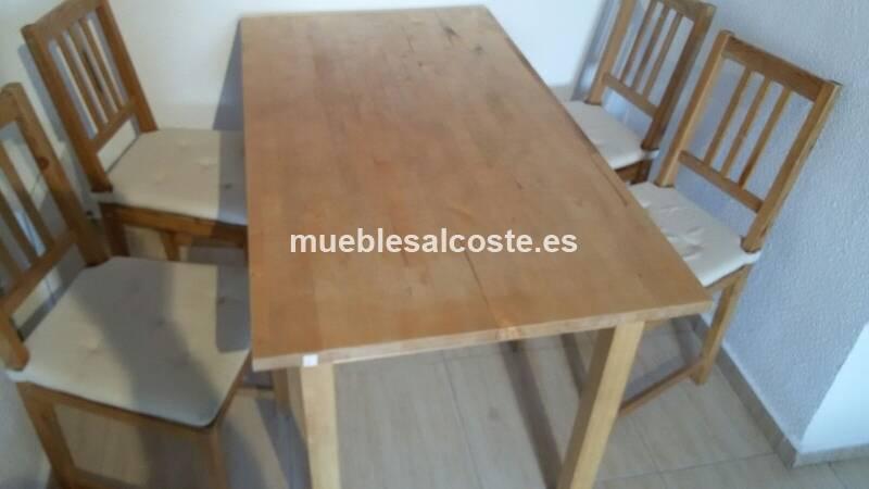 Mesa comedor y cuatro sillas cod 15722 segunda mano for Comedor cuatro sillas