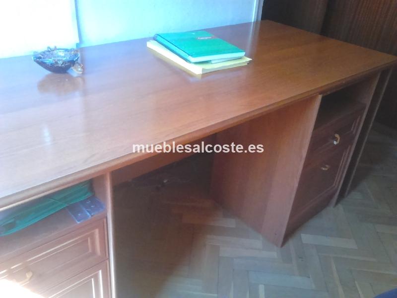 Mesa despacho estilo moderno acabado chapa natural cod 15742 segunda mano - Mesas de despacho segunda mano ...
