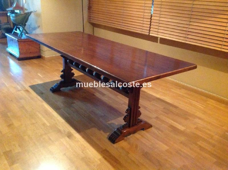 Mesa comedor estilo igual foto acabado madera cod 15774 - Mesa comedor segunda mano barcelona ...