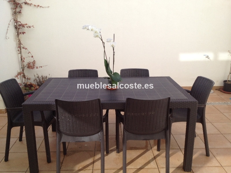 Conjunto mesa y sillas para el jardin cod 15805 segunda for Mesa y sillas jardin segunda mano
