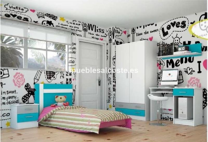 Dormitorio infantil estilo moderno acabado melamina cod for Muebles portillo sevilla