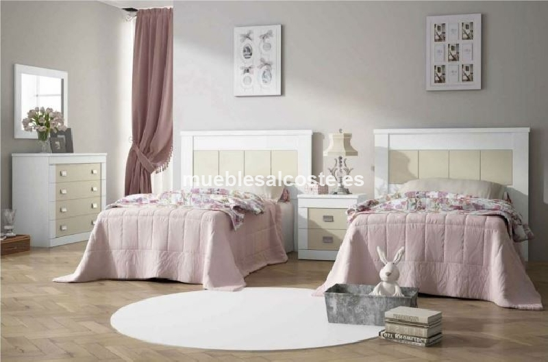 Dormitorio juvenil madera maciza cod 15840 liquidacion for Dormitorio juvenil madera