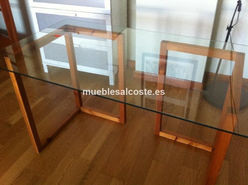 Mesa estilo moderno acabado cristal cod 15920 segunda for Mesa cristal segunda mano