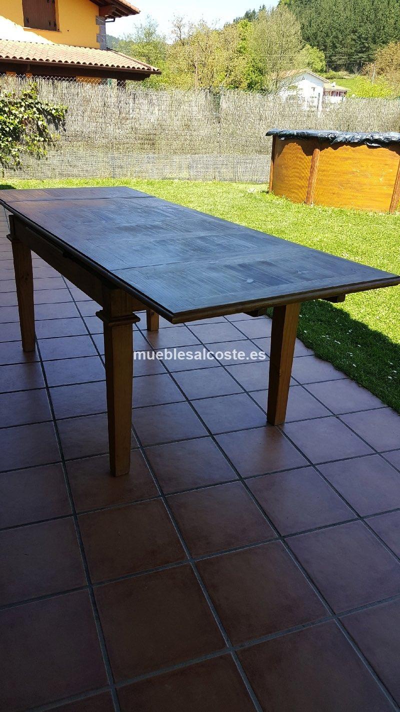 Mesa comedor estilo mejicano acabado madera cod 15929 for Mesa comedor segunda mano