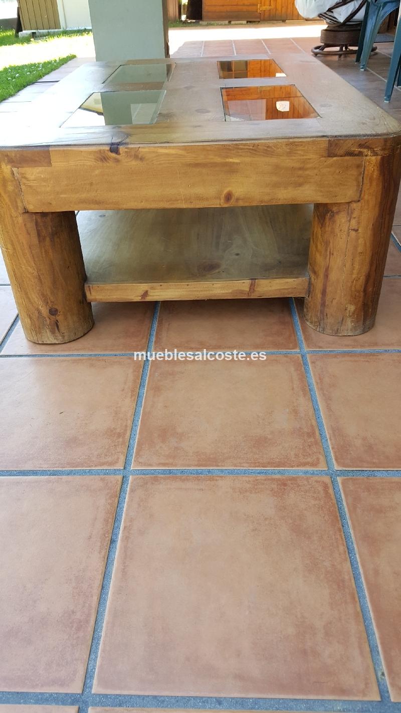Mesa centro estilo mejicano acabado madera cod 15930 - Mesa centro segunda mano ...