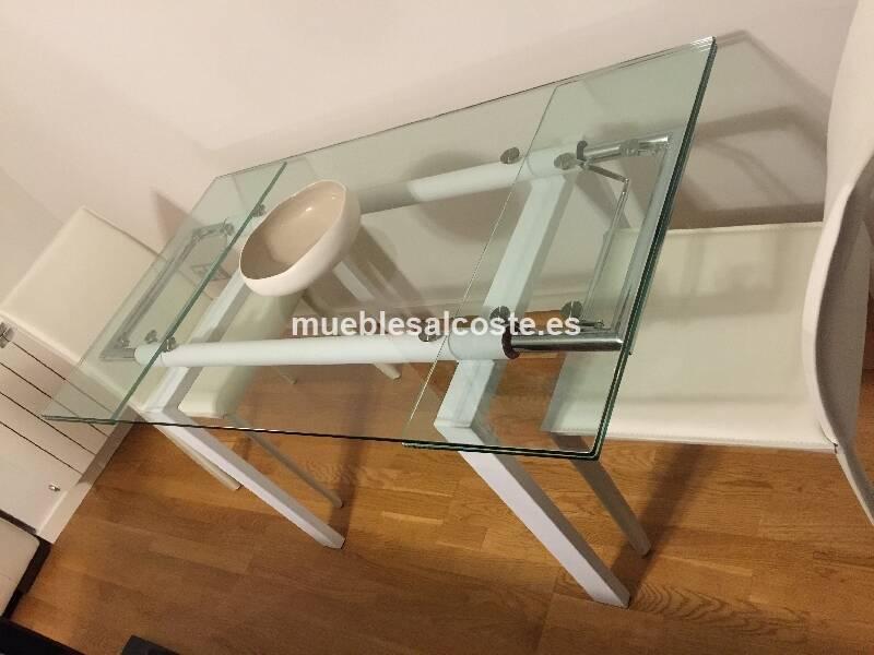 Mesa comedor extensible cristal templado impecable cod - Mesa cristal templado ...