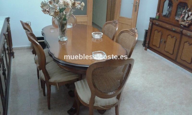 Mesa con seis sillas salon comedor cod 16221 segunda mano for Comedor seis sillas