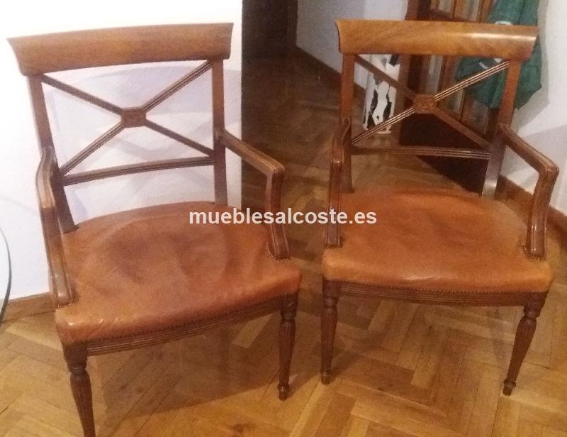 Cuatro sillones estilo igual foto acabado igual foto cod for Sillones segunda mano