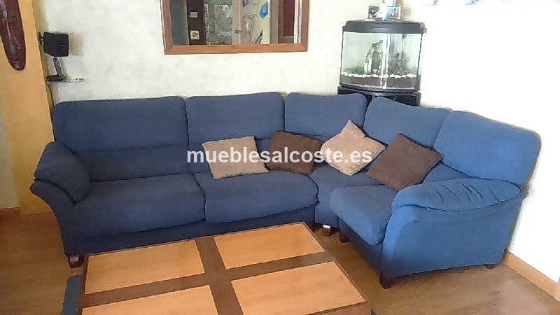 Sofa rinconera azul cod 16253 segunda mano for Sofa rinconera segunda mano