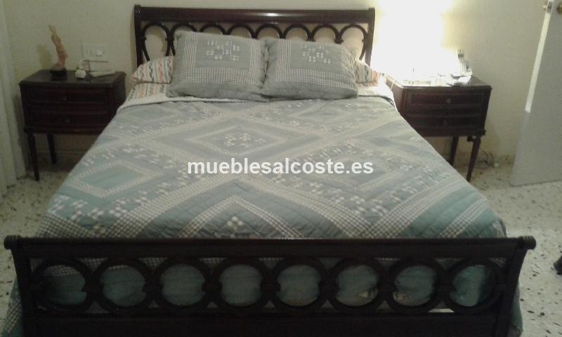 Dormitorio completo matrimonio cama colchon mesillas y for Ofertas dormitorios matrimonio completos