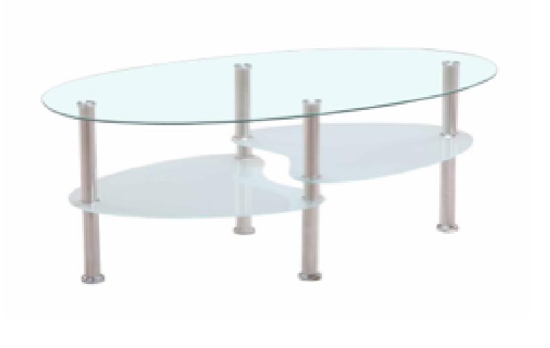 Mesa de centro de cristal cod 17258 segunda mano for Mesa cristal segunda mano
