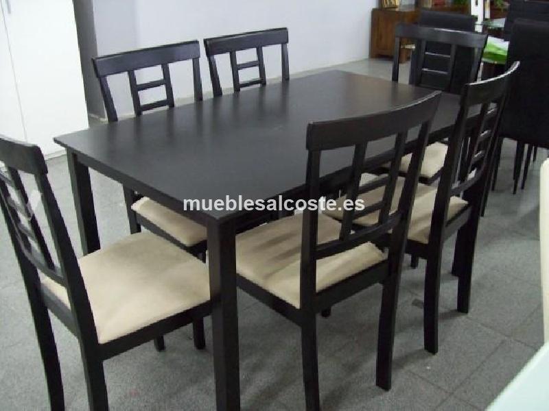 Mesa 6 sillas color wengue 17266 segunda mano - Mesas color wengue ...