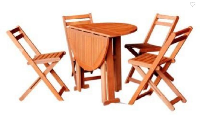 Mesa redonda y sillas plegables cod 17268 segunda mano for Mesa plegable 4 sillas