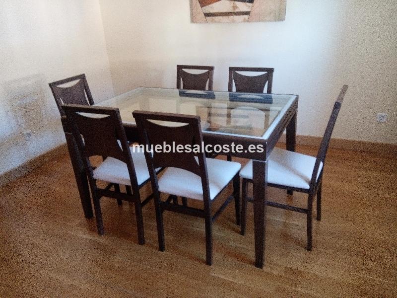 Mesa comedor extensible 6 sillas cod 17651 segunda mano for Sillas comedor segunda mano