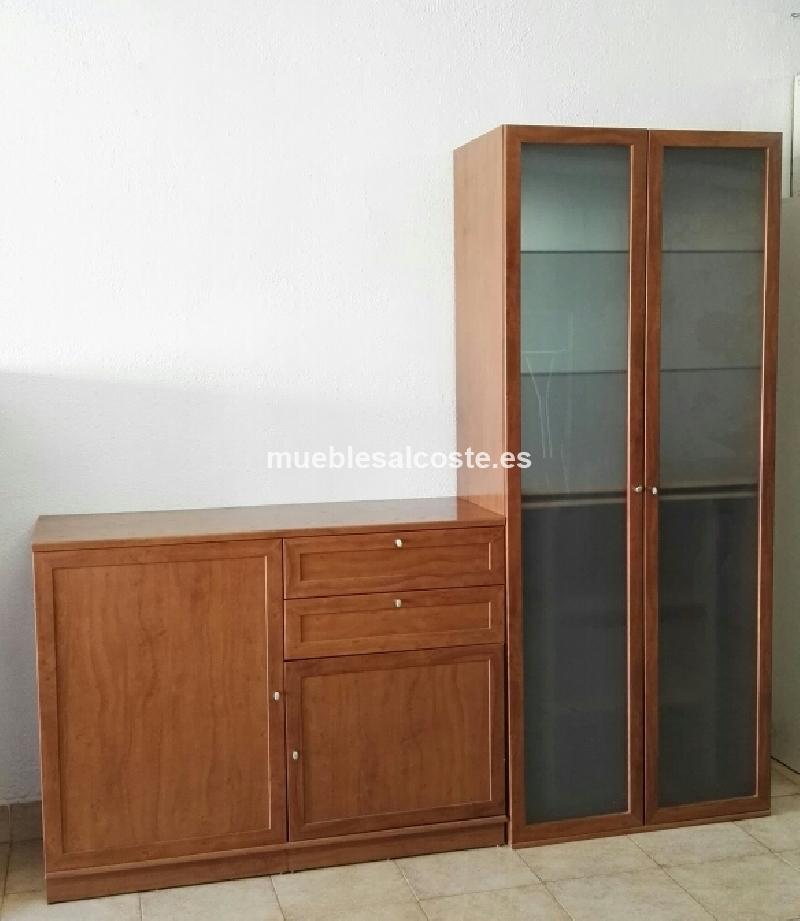 Mueble botellero salon de madera maciza cod 17770 segunda for Muebles salon madera maciza