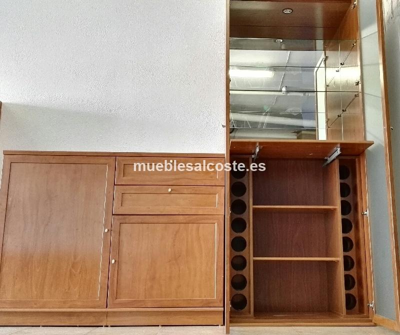 Mueble botellero salon de madera maciza cod 17770 segunda for Mueble salon segunda mano