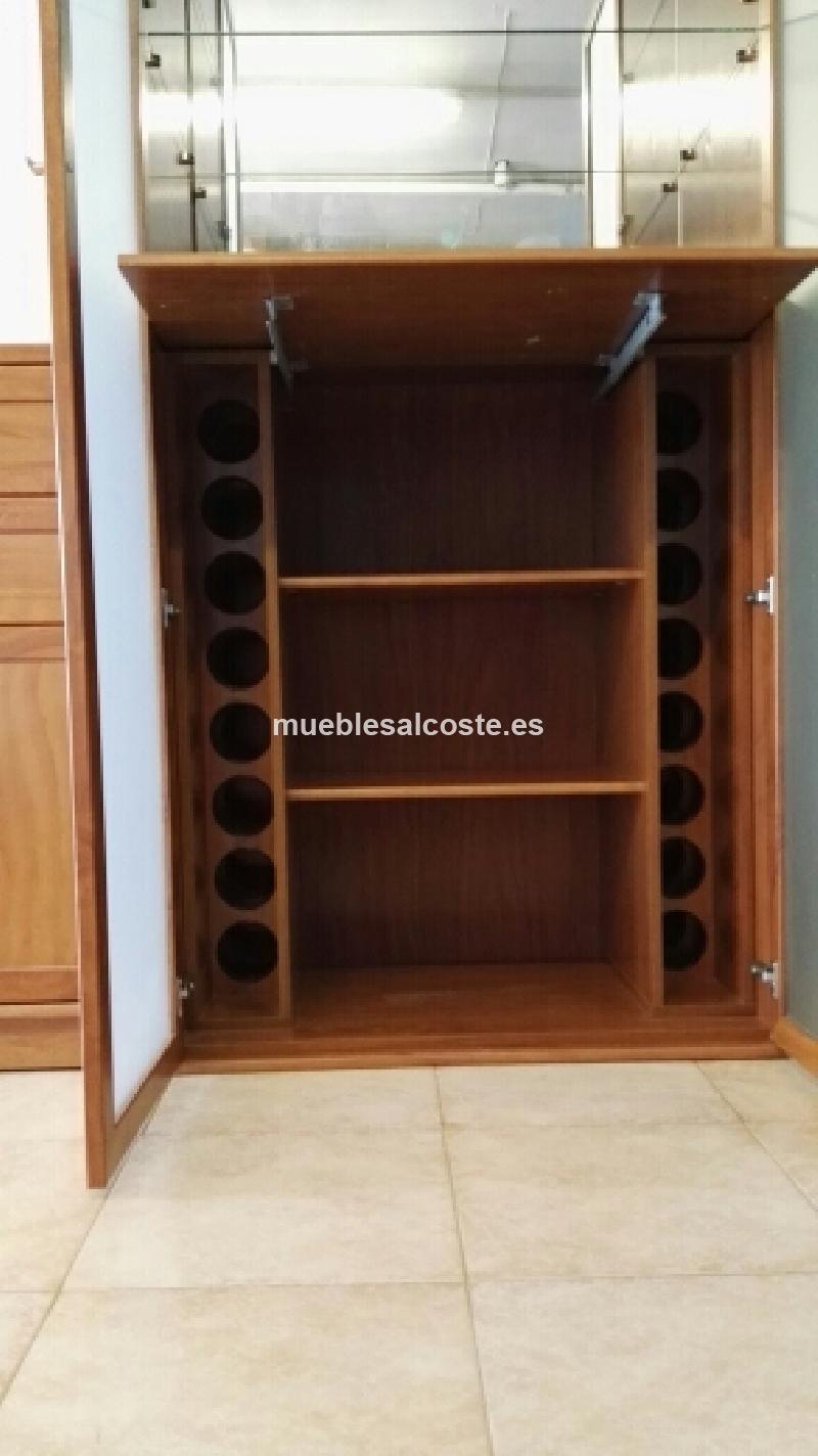 Mueble botellero salon de madera maciza cod 17770 segunda mano - Muebles de salon segunda mano ...