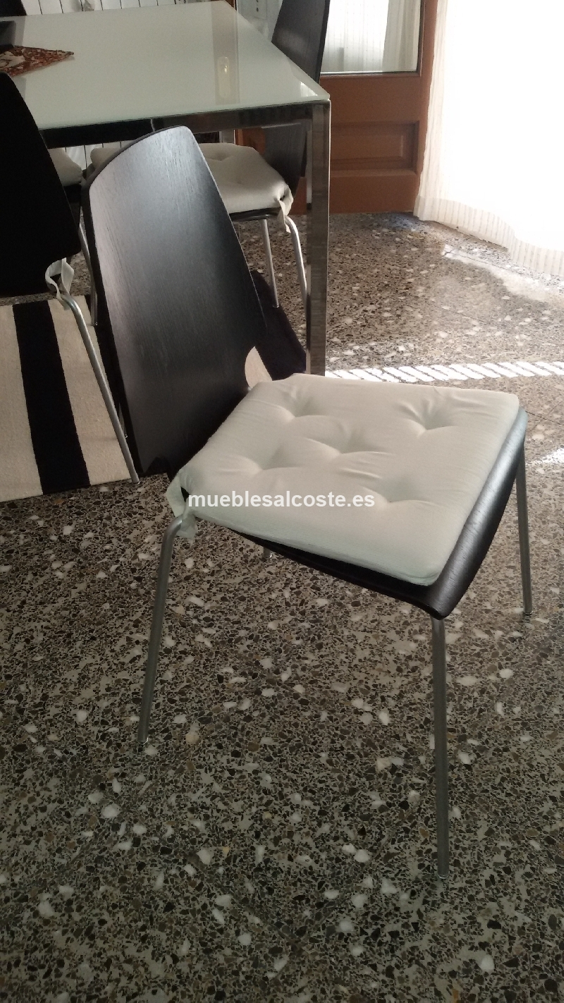 Juego comedor 4 sillas cod 17793 segunda mano for Sillas comedor segunda mano
