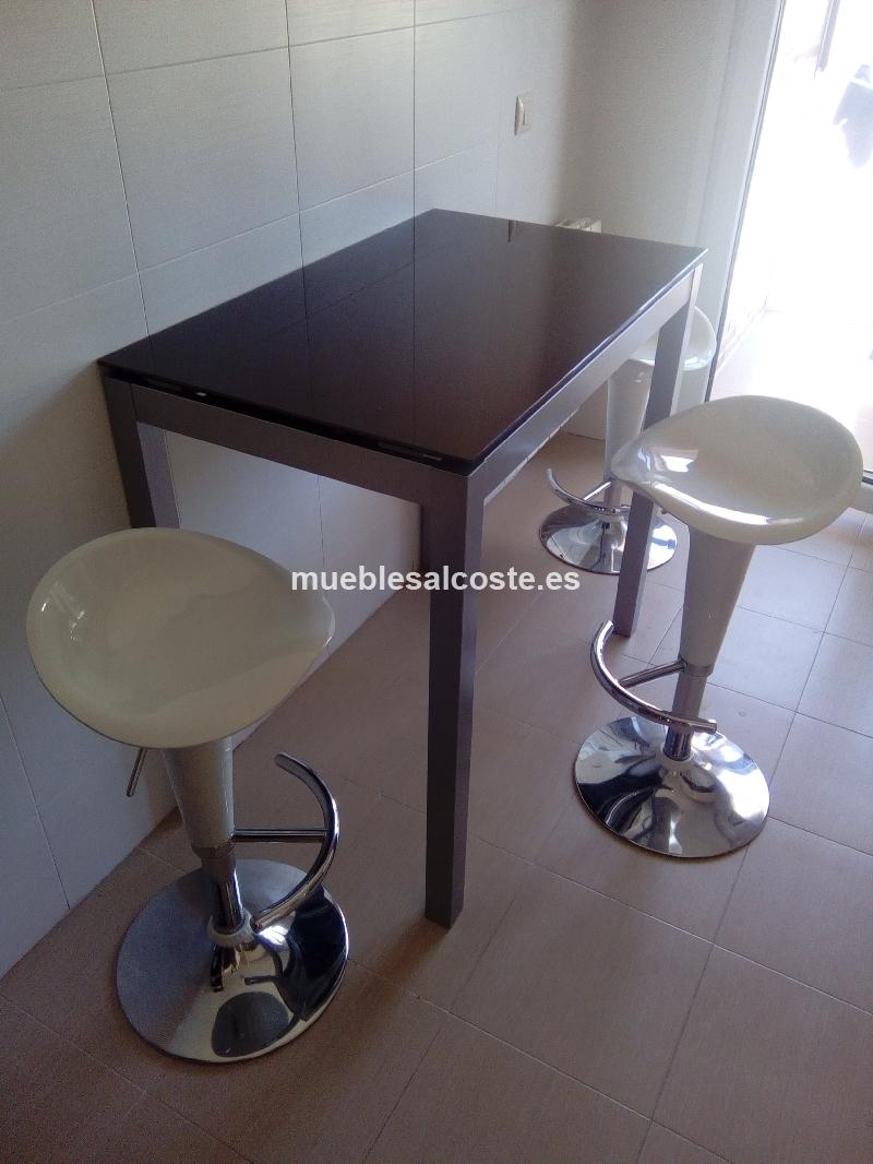 Mesa de cocina y taburetes cod 17963 segunda mano - Mesa cocina con taburetes ...