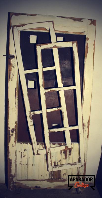 Puerta de madera estilo vintage cod 18124 segunda mano for Estilos de puertas de madera