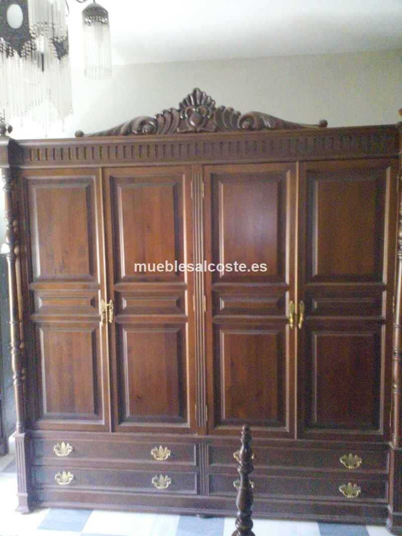 Dormitorio matrimonio madera maciza cod 18056 segunda mano - Armarios de madera maciza ...