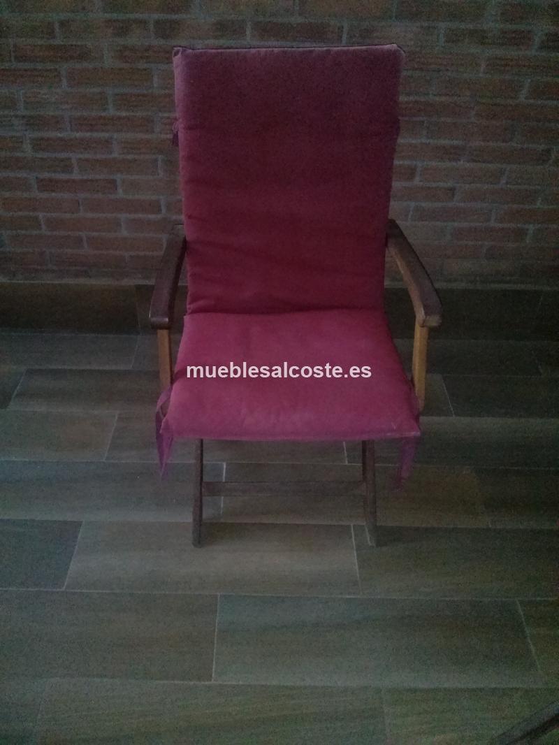 Mesa y sillas de madera exterior cod 18336 segunda mano for Sillas madera segunda mano