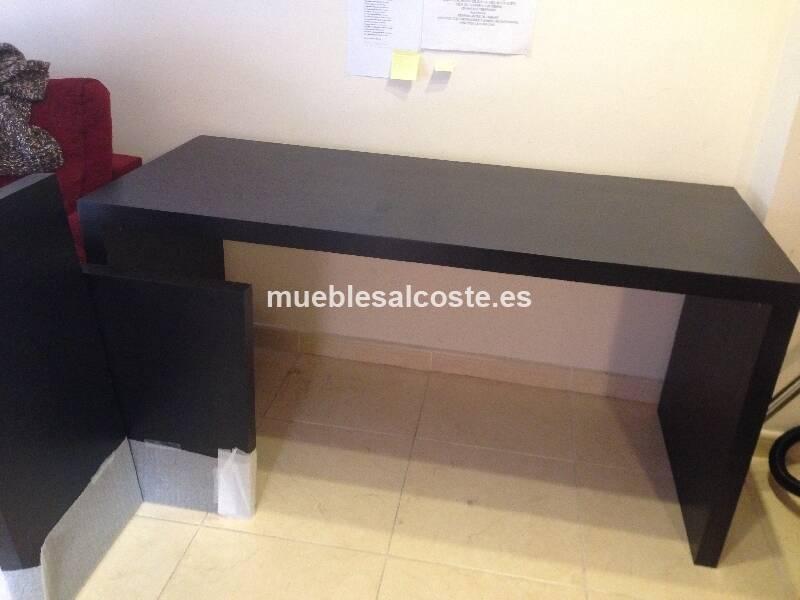 Mesa escritorio tipo malm ikea color wengue cod 18234 for Mesa escritorio ikea