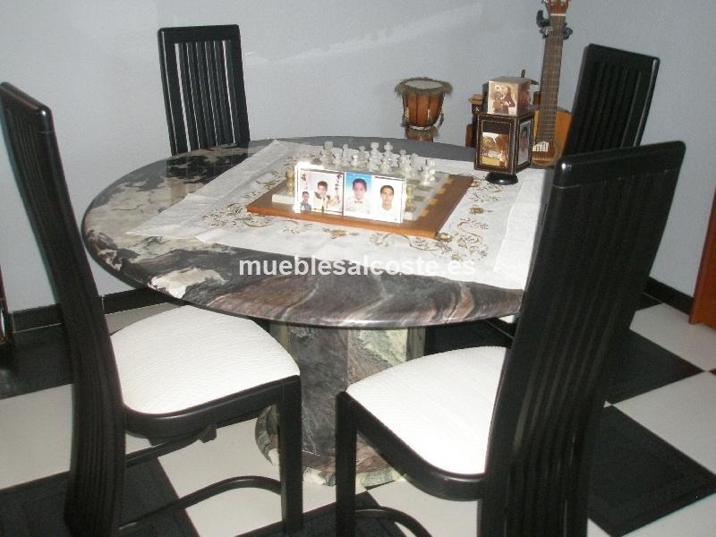 Mesa de marmol redonda 18311 segunda mano for Mesa redonda segunda mano