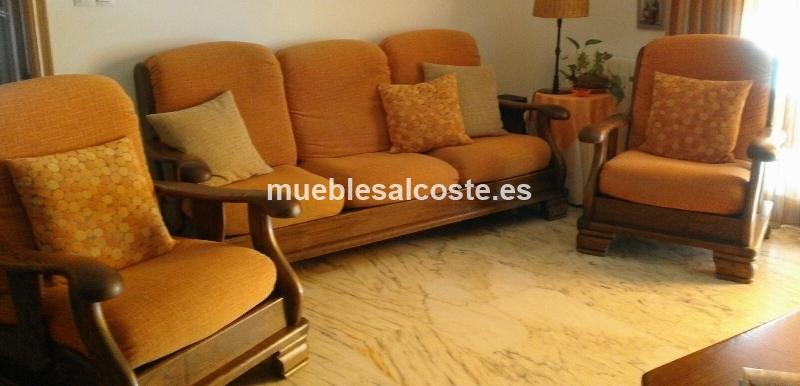 sof y dos sillones de roble macizo cod 18326 segunda mano