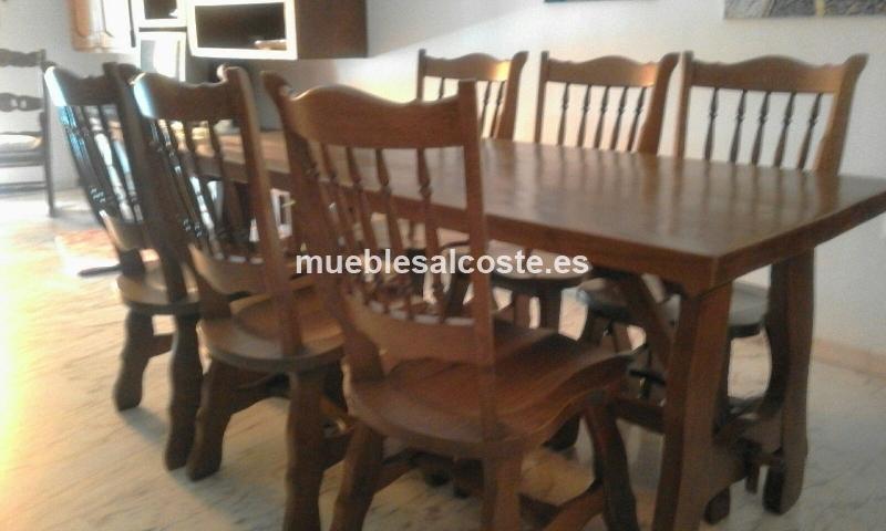 Mesas y seis sillas de roble macizo cod 18436 segunda mano - Mesas restaurante segunda mano ...