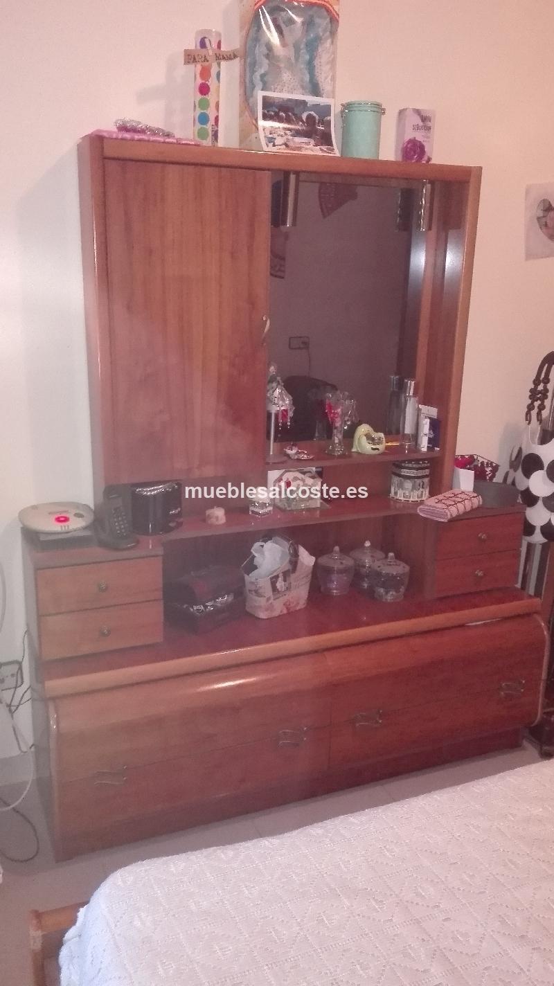Habitacion completa madera de roble cama armario - Habitacion con tocador ...