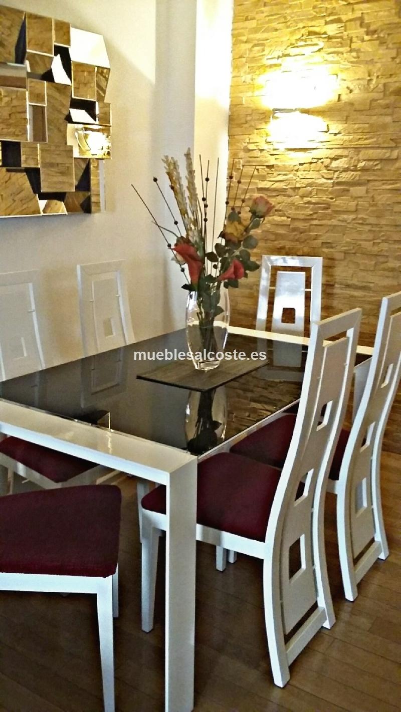Conjunto de mesas y sillas diseno cod 18400 segunda mano - Sillas diseno segunda mano ...