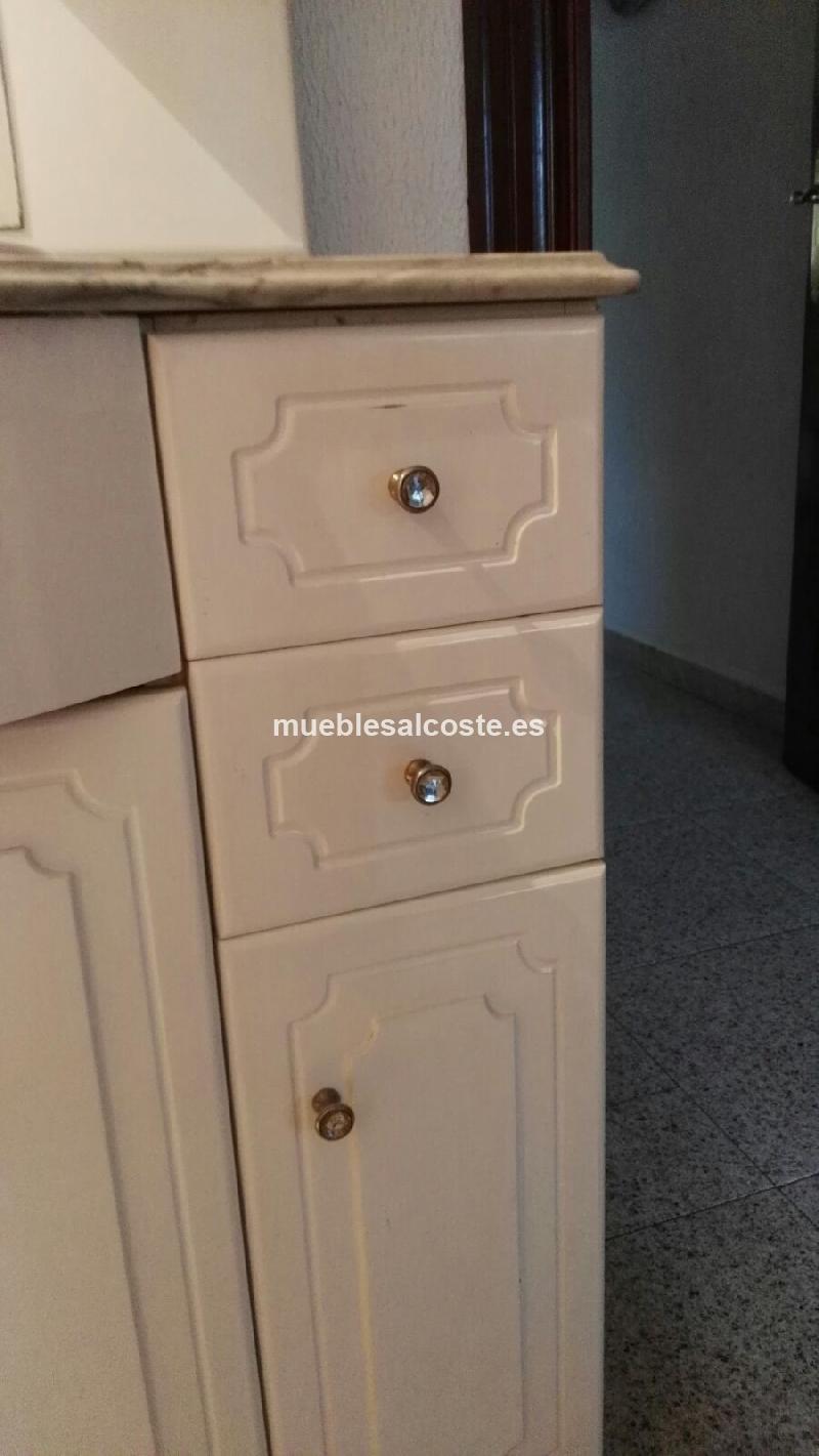 Mueble de bano con lavabo y espejo cod 18409 segunda mano - Muebles bano asturias ...