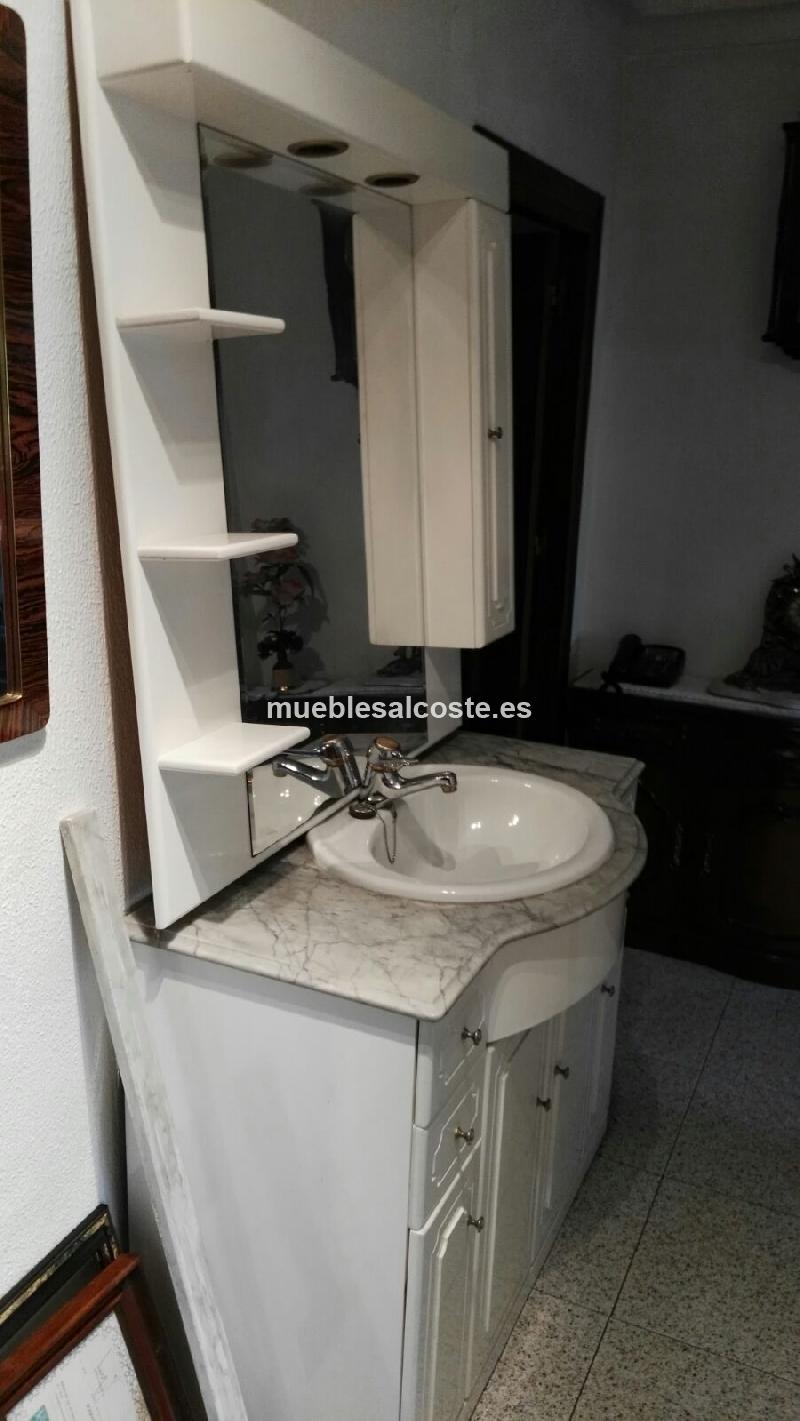 Mueble de bano con lavabo y espejo cod 18409 segunda mano for Muebles de bano segunda mano