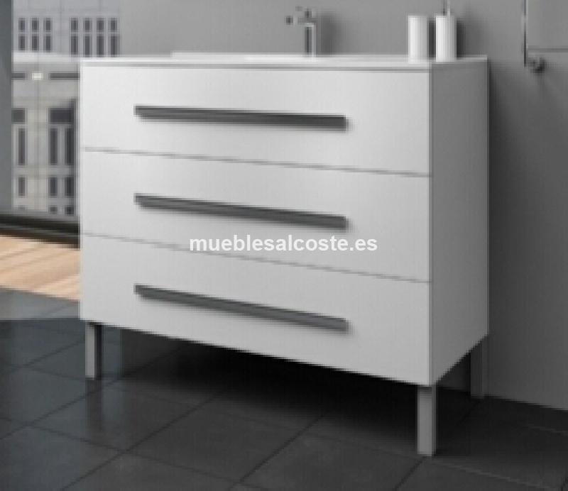 Mueble bano con lavabo blanco cod 18541 segunda mano - Mueble bano blanco ...