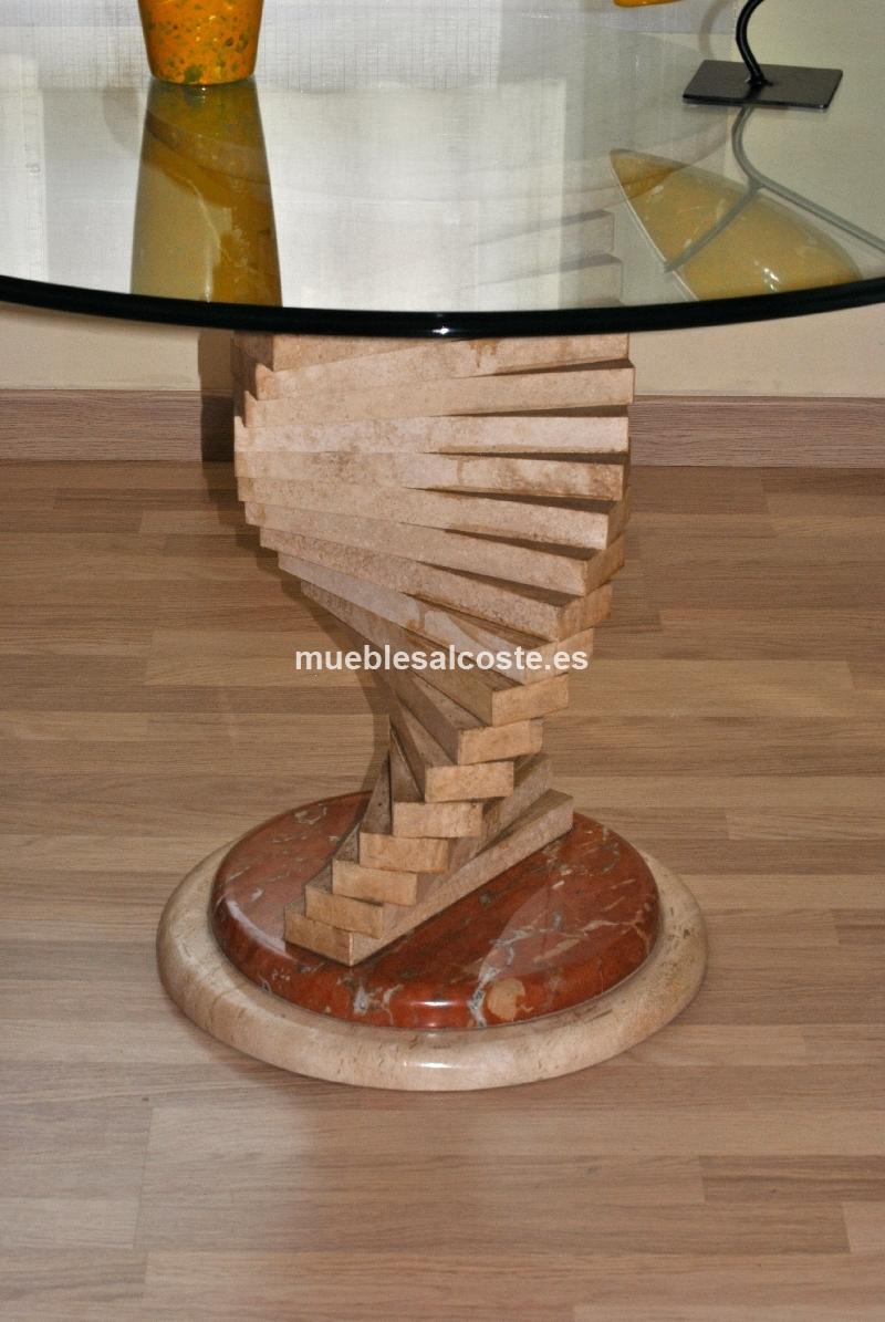 Mesa salon cristal cod 18555 segunda mano for Mesa cristal segunda mano