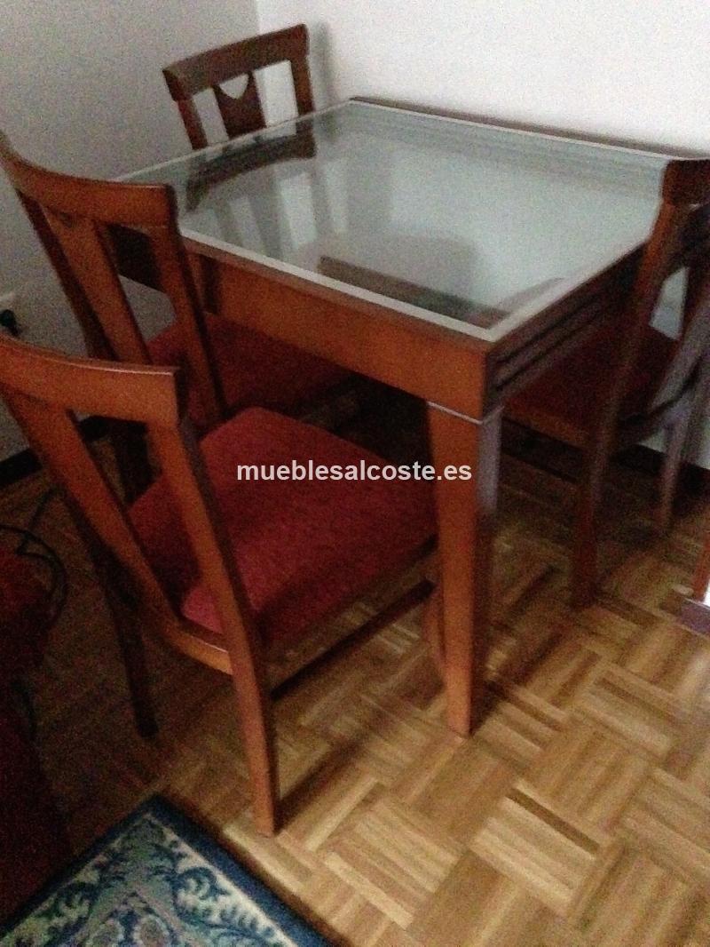 MESA Y 4 SILLAS COMEDOR cod:18602 segunda mano, Mueblesalcoste.es