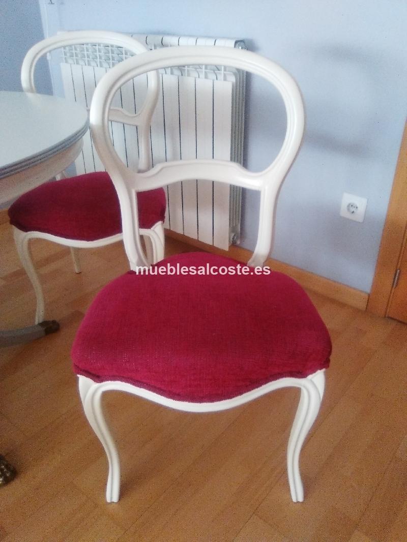 Mesa de comedor y 4 sillas restauradas cod 18576 segunda - Mesas de comedor restauradas ...