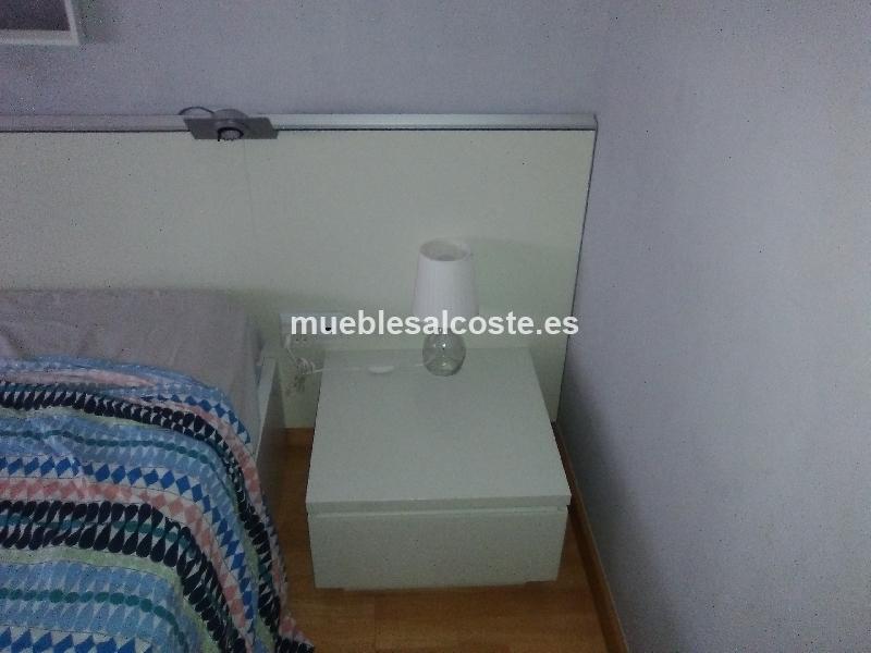 Cabecero cama con mesilla y estanteria integradas cod - Cabecero cama segunda mano ...