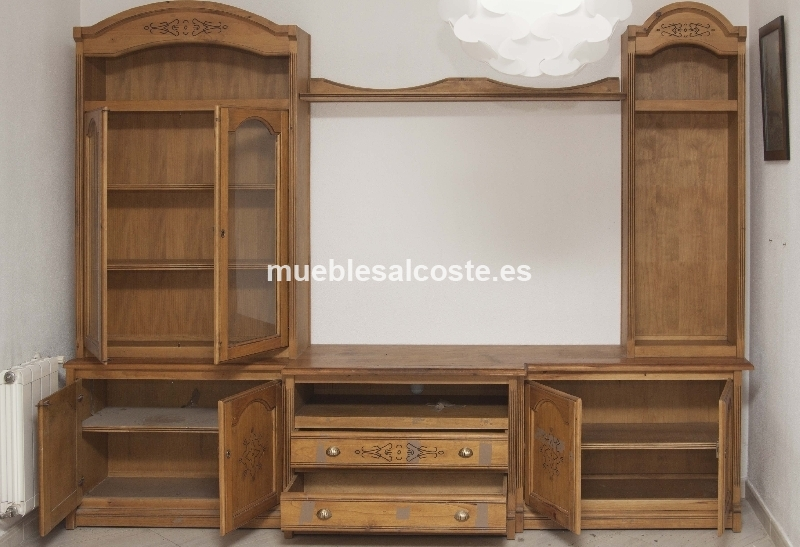 Muebles de salon rusticos cod 18604 segunda mano for Muebles rusticos para salon