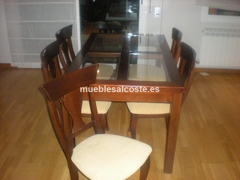 Mesas conjunto salon comedor sillas cod 18615 segunda for Sillas comedor segunda mano
