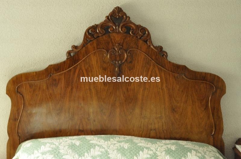 Cama de madera antigua cod 18769 segunda mano - Camas de madera antiguas ...