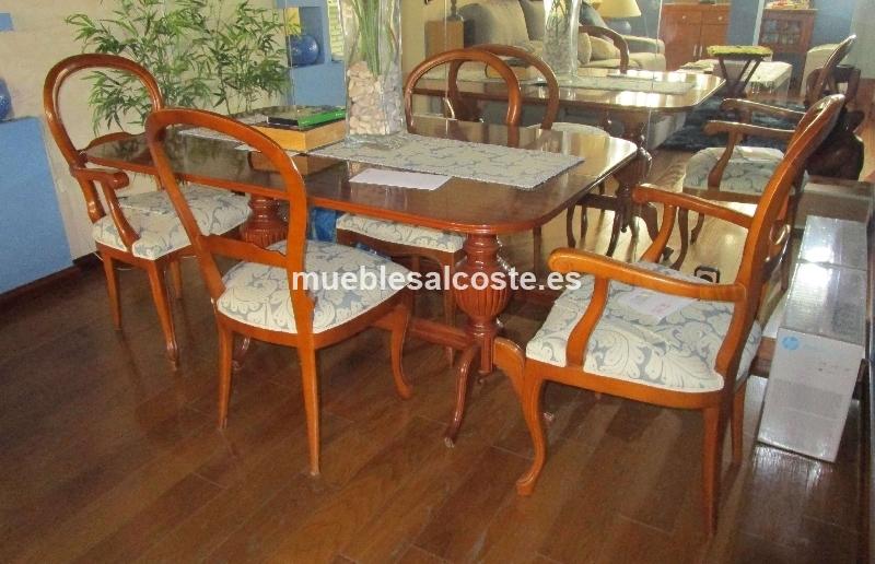Comedor plegable con 6 sillas cod 18791 segunda mano for Sillas clasicas segunda mano