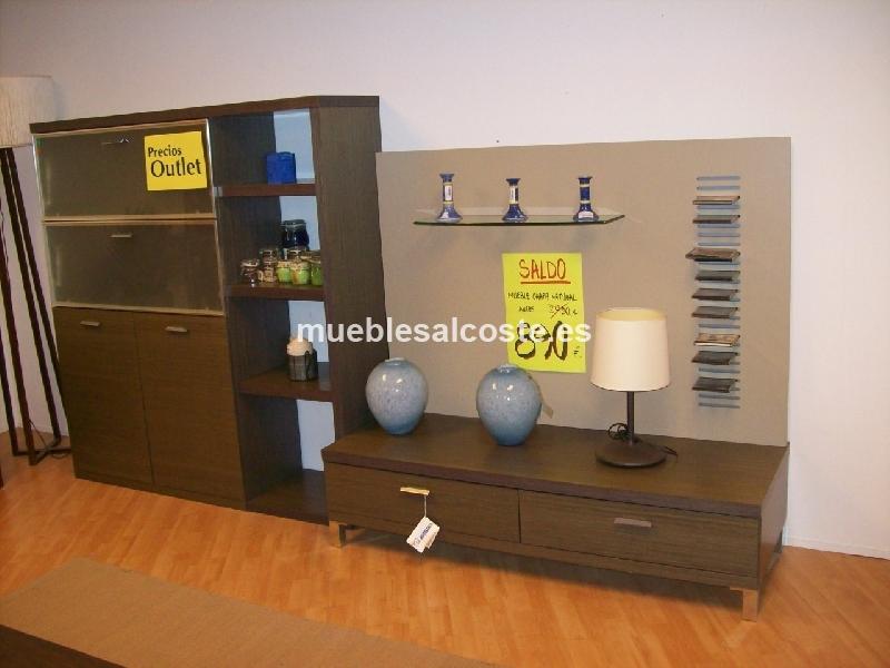 Mueble salon estilo moderno acabado chapa natural cod 13094 liquidacion - Muebles vizcaya liquidacion ...